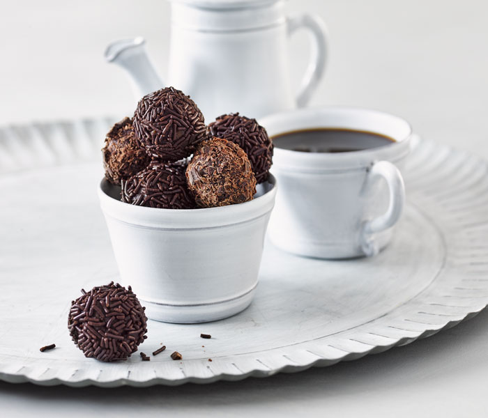 Camp Coffee and Walnut Truffles