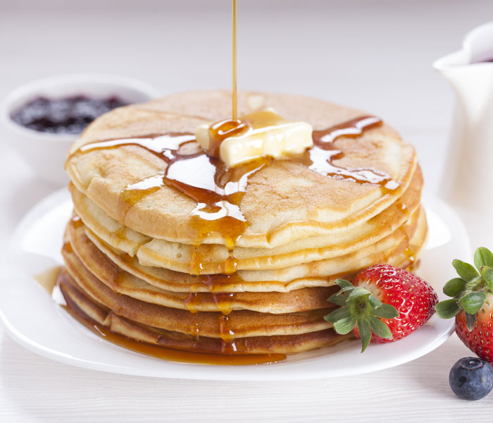 American Style Coffee Pancakes