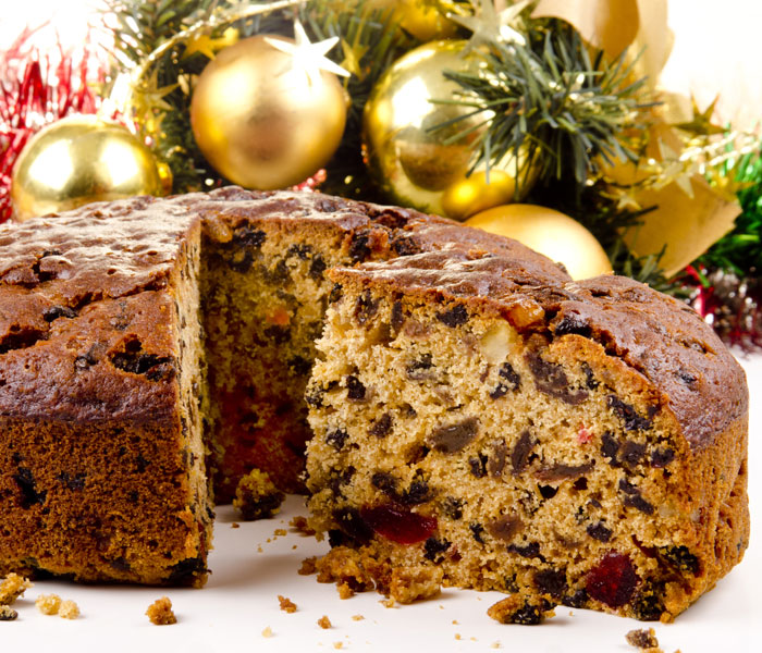 Christmas Fruit Cake with Camp Coffee