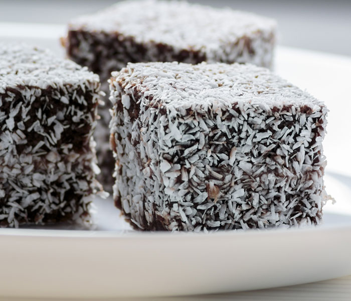 Easy Coconut and Camp Coffee Ice Squares