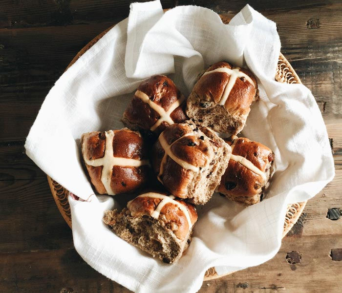 Mini Coffee and Spice Hot Cross Buns